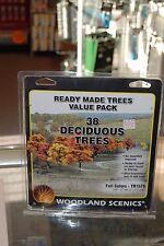 Woodland Scenics TR1575 * Ready Made Trees Value Pack * 38 Deciduous Trees * NIB