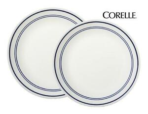 """1 Corelle CLASSIC CAFE BLUE BANDS Choose: 10 1/4"""" DINNER or 8 1/2"""" LUNCH PLATE"""
