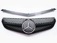 Front Grill For Benz W207 C207 COUPE CONV. E250 E350 E550 - Glossy Black Grille