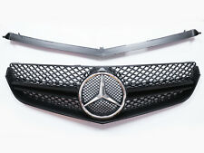 Front Grill For Benz W207 C207 COUPE CONV. E250 E350 E550 - Glossy Black Grille