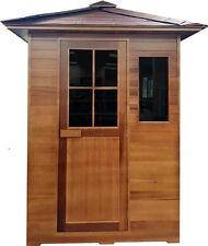 New 3 Person Outdoor FIR Far Infrared Canadian Red Cedar Sauna SPA  Backyard