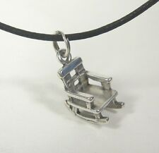 Rustic Rocking Chair Charm Pendant Necklace .925 Sterling Silver USA Made Rocker