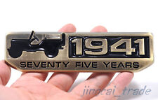 75-year ANIVERSARIO 1941 3d Metal Insignia emblema jeep cherokee Willys Wrangler