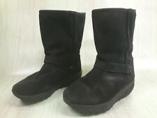 Women's Sketchers Shape Ups XF Bollard Wedge Toning Boots Black Size 11 #24860