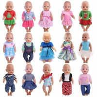 Baby Dolls Clothes 43cm/18 inch Doll Outfit Set New Born Wear Suit Children Gift