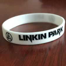 Linkin Park rock band Silicone Rubber Wristband bracelet jewelry souvenir white