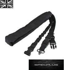 Single Point Adjustable Rifle Sling with Swivel Bungee Tactical Airsoft Black