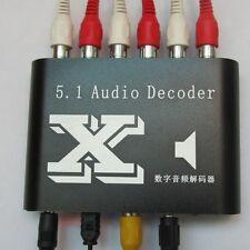 Digital Dolby DTS/ AC-3 Optical SPDIF to Analog Audio Gear Sound Decoder 5.1/2.1