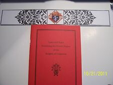 "KNIGHTS OF COLUMBUS - Book - 4th Degree ""Laws and Rules"""