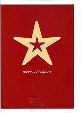 Christmas Holiday Cards Spectrum Merry Christmas Silver Star Card UK Import