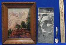 Vintage South Dakota Black Hills Souvenir Brochure Framed Picture & Spoon Lot 3