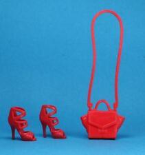 Barbie Fashionistas Red Purse Sparkle Girlz Strappy Sandal Shoes PETITE REGULAR