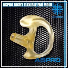 Right Small Flesh Flexible Semi Custom Ear Mold Insert Soft Rubber Gel Earpiece