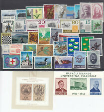 Iceland Island 40 different stamps MNH With block and high values