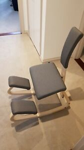 Ergonomic genuine Varier Balans Kneeling Chair with Backrest (Peter Opsvik)...