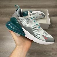 NIKE AIR MAX 270 PLATINUM WHITE GREY TRAINERS SHOES SIZE UK11 US12 EUR46