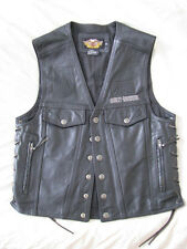 Harley Davidson Piston Motorcycle Vest Thick Heavy Leather H-D Biker Men M