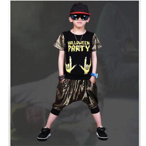 Children Cool Dancewear Dance Costume Girls Boys New Jazzy Dance UK