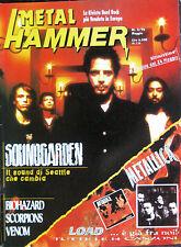 METAL HAMMER 5 1996 Soundgarden Metallica Biohazard Venom Prong Scorpions Grave