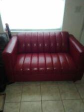 red leather livingroom furniture used