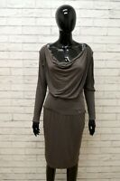 Vestito LIU JO Donna Taglia Size L Abito Tubino Dress Woman Manica Lunga Slim