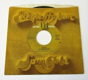 """Queen - Killer Queen / Liar USA 1983 Elektra Spun Gold 7"""" Single"""