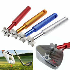 6 Blade Golf Iron & Wedge Club Face Groove Tool Sharpener Cleaner Square Groove