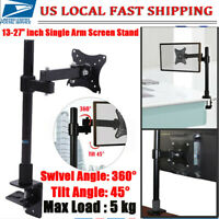 """13""""-27"""" Computer Monitor Desk Mount Stand Adjustable Arm for LED LCD US"""