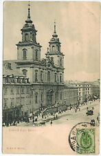 Traffic at the Church of Holy Cross in Warsaw/Warszawa, Poland, 1900s