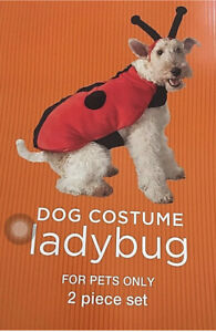 LADY BUG Dog Costume~ 21-30 Pounds/ 17-19 Inch ~2 Pieces~NEW Deluxe~English Bull