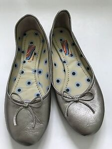 Paul Smith Silver Laced Ladies flat Shoes Size  UK4 EU37