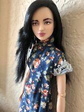 OOAK Barbie Asian Made To Move custom Head Full Doll fashion Qipao Model Muse