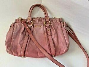Miu Miu Pink Leather Bag w/ Detachable Shoulder Strap