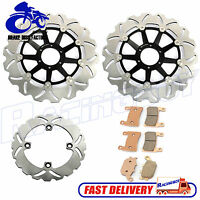Front Rear Brake Disc Rotor + Brake Pads For Honda CBR900RR SC33 Fireblade 98 99