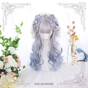 Japanese Cosplay Women's Harajuku Curly Hair Lolita Sweet Girl's Daily Wig Long