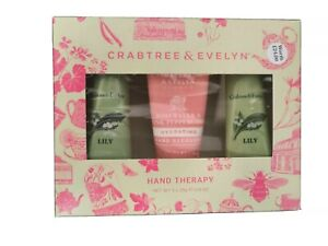CRABTREE & EVELYN GIFT SET X 3 PACK HAND THERAPY CREAM 25ML EACH BRAND NEW BOXED