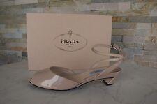 PRADA Gr 39,5 Sandaletten sandals schuhe shoes 1K682E VERNICE nude NEU UVP 490 €