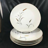 Vintage CTSI ETERNAL HARVEST Wheat Pattern Set of 5 Dinner Plates