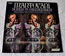"""Mantovani & His Orchestra / Songs To Remember / London Records 12""""LP"""
