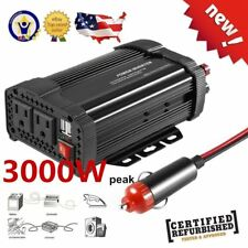 3000W 1500W Watt Peak Power Inverter DC 12V to AC 110V Car Truck USB Charger OW
