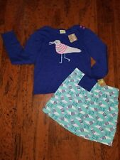 Crazy 8 Girls 2-Pc Outfit Seagull Sweater & Skirt, Sz 12 Nwt Back to School Lot