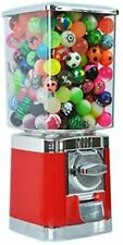 More details for red retro 20p coin operated vending machine + 100 filed toy capsules included.