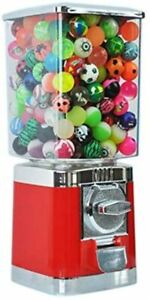 Red Retro 20p coin Operated Gumball / Bouncy Balls / Gobstopper Vending Machine
