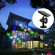 LED Solar Outdoor Projector Light Snowflake Moving Stage Garden Lawn Light