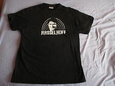 DAVID HASSELHOFF KNIGHT RIDER BAYWATCH BLACK MENS T SHIRT  SIZE LARGE novelty