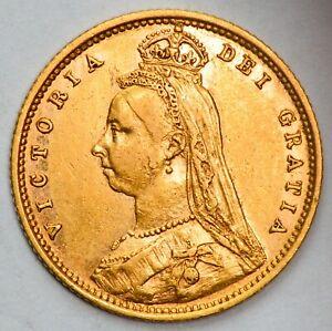 1892 Queen Victoria Jubilee Head Gold Half Sovereign (1887-1893 Type)