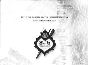 Buffy the Vampire Slayer Official Fan Club 2000 membership pack