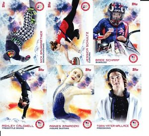 2014 Topps US USA Olympic and Paralympic Team Cards Pick from List