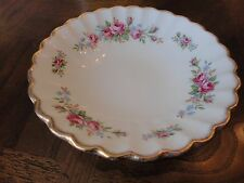 J & G Meakin Classic White Cabbage Rose Fruit Bowl Gold Trim, No Sale Tax
