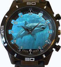 Shark Deep Blue nuovo stile Predator regalo unico Orologio da polso VELOCE UK Venditore